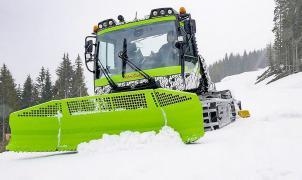 Primera máquina pisa nieves totalmente eléctrica para preparar las pistas de esquí