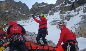 Accidente de montaña cerca de Vallter 2000: 5 montañeros heridos tras una caída