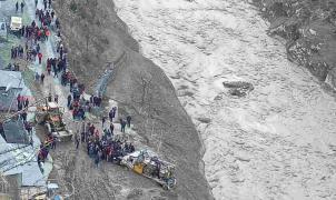 La catástrofe en el Himalaya fue provocada por un alud y no por el desprendimiento de un glaciar