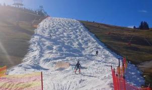 Polémica medioambiental en Austria porque una pista de esquí ha abierto gracias al cultivo de nieve