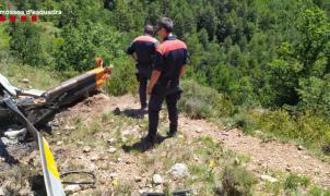 Fallecen dos personas en un accidente de un helicóptero cerca de La Seu d'Urgell
