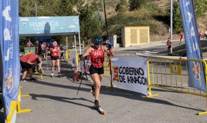Marta Moreno y Diego Ruiz, flamantes campeones de España de Rollerski en el III Trofeo Ciudad de Jaca