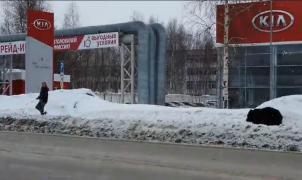 Vídeo: un ruso corre despavorido perseguido por un oso y se salva gracias a un autobús
