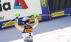 Sebastian Foss hace historia para Noruega con su oro en el slalom de los Mundiales de Cortina