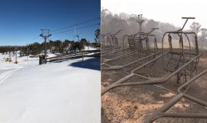 La estación de esquí de Australia calcinada por los incendios forestales renace de las cenizas