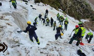Hallado el cuerpo del segundo operario enterrado por una avalancha en San Isidro hace un mes