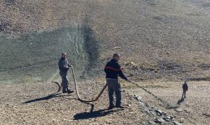 Sierra Nevada está en plena hidrosiembra de algunas zonas del dominio esquiable