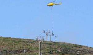 Espectacular vídeo de los trabajos de mantenimiento del telesilla Jara en Sierra Nevada