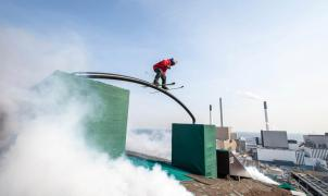 Freeski espectacular, del mejorcito y sin nieve en la azotea de CopenHill