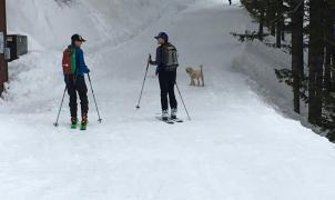 Una estación de esquí de EE.UU. sigue pisando sus pistas todos los días para los skimos