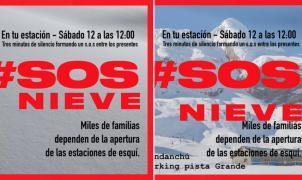 Movilizaciones en el Pirineo aragonés para exigir que se permitan abrir los centros de esquí