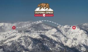 El futuro telecabina que conectará Squaw Valley y Alpine Meadows da un paso de gigante