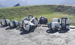 La tormenta Bárbara destroza remontes mecánicos en Saint Lary y Superbagnères