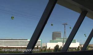Aramón comienza a retirar la telecabina de la Expo tras siete años parada
