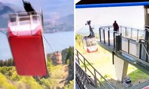 Aparece un duro vídeo donde se ve el momento de la caída del teleférico de Mottarone