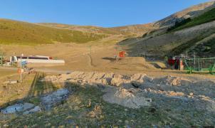 Comienzan las obras de construcción del nuevo telesilla de Corrales de Valdezcaray