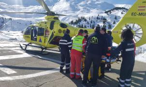 Herido un esquiador por una avalancha en el pico Cibollés, en Benasque