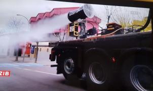 La UME adapta cañones de nieve para luchar contra el coronavirus