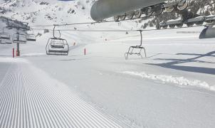 Una nevada casi de récord en Vallter 2000. Hasta 220 cm de nieve nueva en cotas altas
