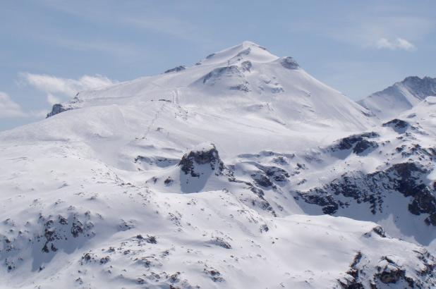 Vista de la Grand Motte, Tignes.