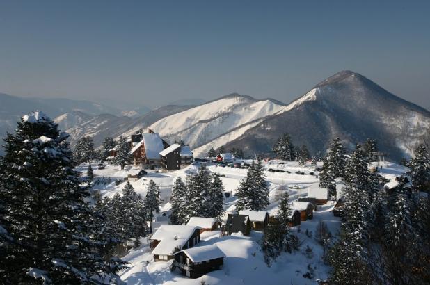Aspecto invernal en la estación de esquí de Guzet