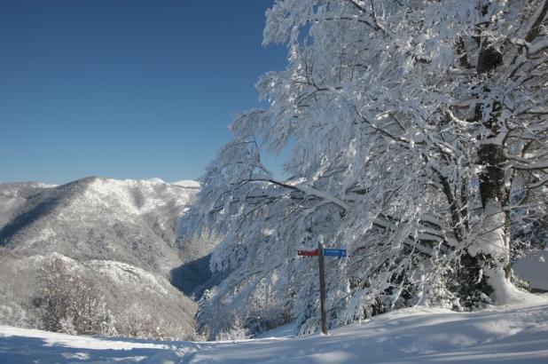 Estación de esquí de Guzet Neige en el Ariège Pyrénées