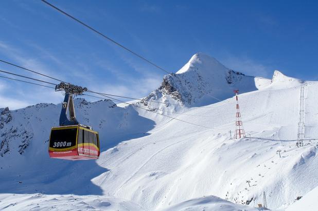 Teleférico en el glaciar de Kaprun/Kitzsteinhorn