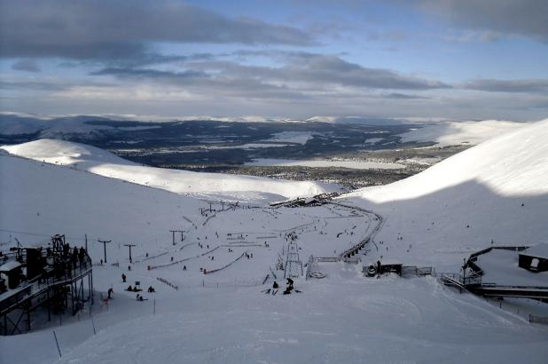 Vistas de las pistas de Cairngorm Mountain