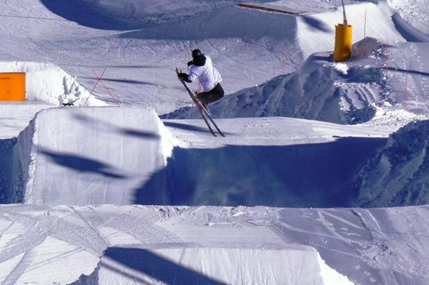 Nueva Zelanda, New Zealand, Isla del Sur, South Island, The Remarkables Ski Area, terrain park