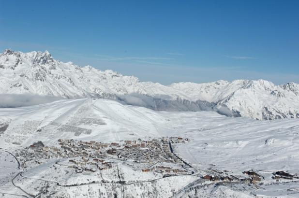 Aspecto de la estación de Alpe d'Huez