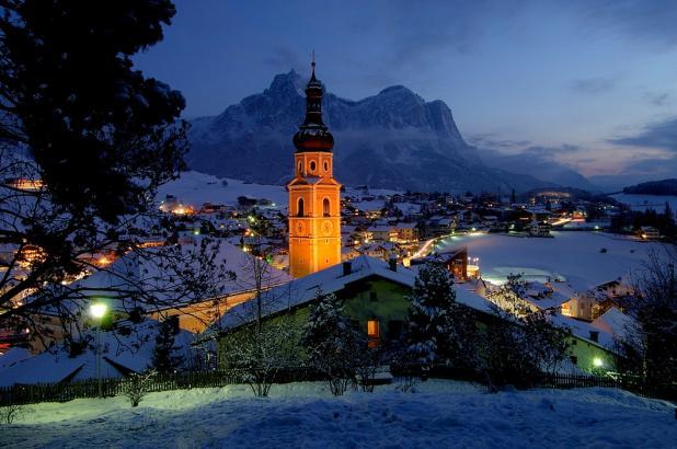 Imagen invernal de Alpe di Suisi