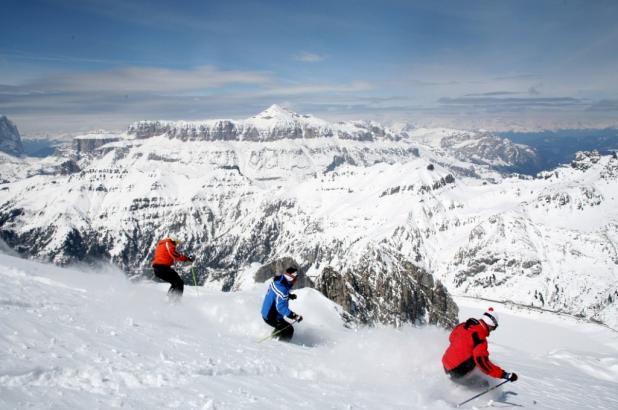 Alta Badia en los Dolomitas en pleno invierno