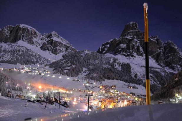 Maravillosa imagen nocturna de la zona de Alta Badia