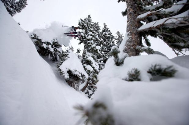 Freeride en Alta Ski Area en Utah