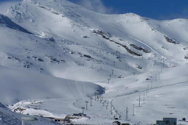 Aspecto invernal de la estación Cántabra de Alto Campoo