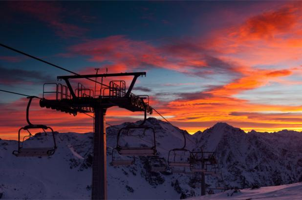 Espectacular atardecer en Antagnod Monterosa Ski