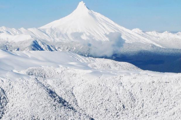Imagen de Cerro Puntiagudo en Antillanca, crédito imagen Teresa Rodriguez