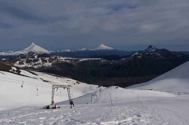 Imagen del Centro de Ski Antillanca, ubicado realizada en la Décima Región de Los Lagos. Crédito imagen Felipe Barriga Richards