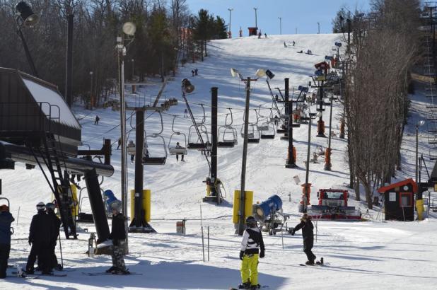 Base de la estación de Appalachian Ski Mountain