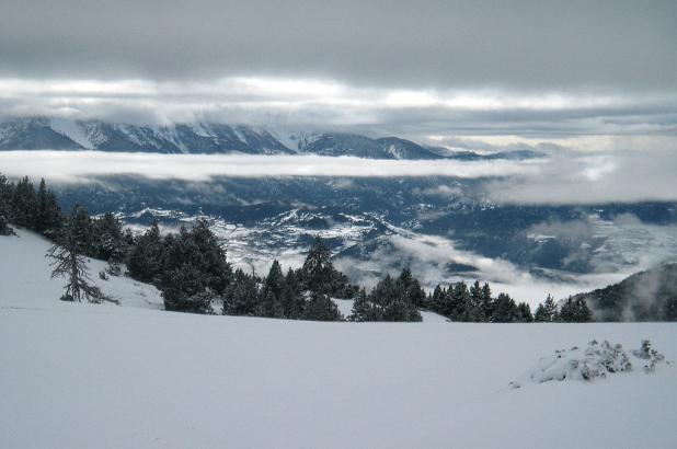 Estación de esqui Nórdico de Aransa y vistas al Cadí