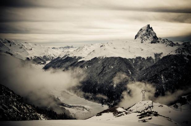 Imagen de la estación de esquí de Artouste en les Pyrénées Atlantiques