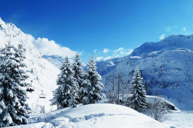 Imagen de la estación de esquí de Avoriaz en la Alta Saboya