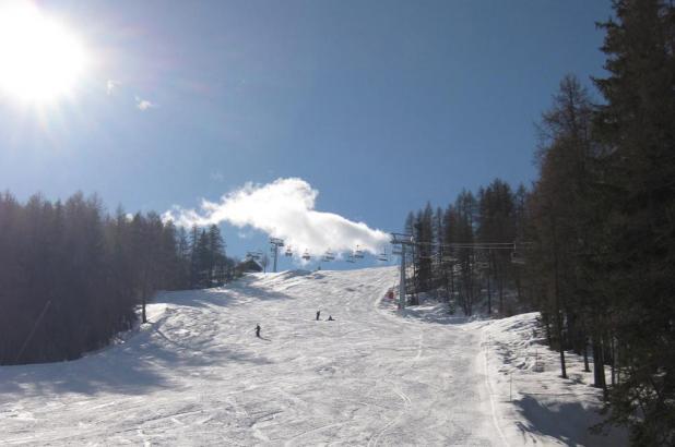 Esquiando en Bardonecchia