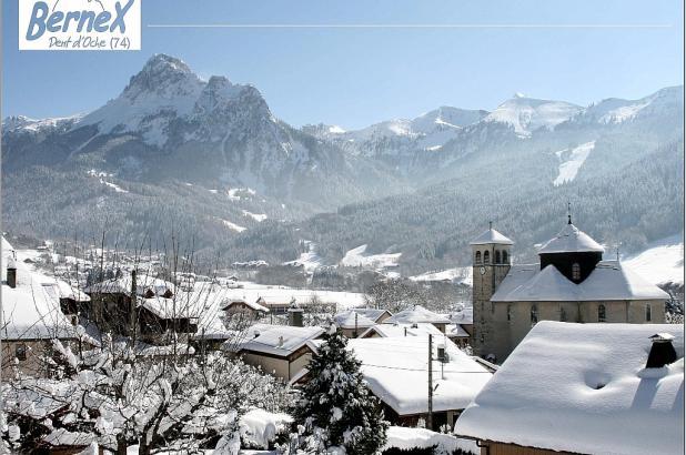 Imagen de la población de Bernex en invierno