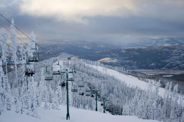 Nieve en abundancia en Blacktail Mountain