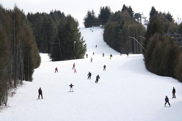 Esquiando en Brimacombe