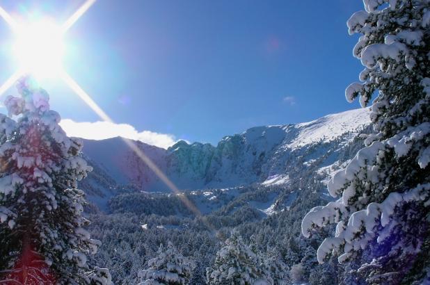 Imagen de la bonita estación de Espace Cambre d'Aze en el pirineo Oriental