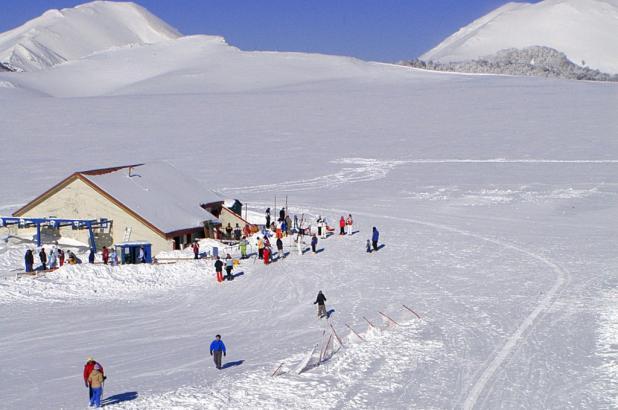 Paisaje nevado en Campo Catino