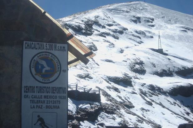 Pista de esquí en Bolivia, Chacaltaya