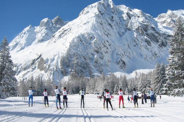 Esquí de fondo en Champex-Lac